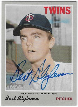 2019 Topps Heritage Bert Blyleven - Real One Autograph