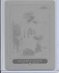 2005 Topps Chrome Black Printing Plate - Fred Gibson