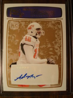 Adarius Bowman 2008 Topps Rookie Progression Rookie Autographs Blue Bronze /35