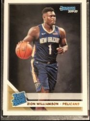 2019-20 Panini Donruss #201 Zion Williamson RR RC