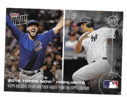 2016 Topps Now Jake Arrieta/Gary Sanchez/Ichiro/David Ortiz - Happy Holidays Highlights