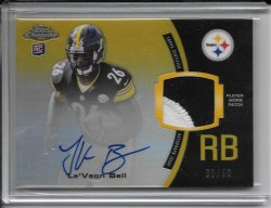 2013 Topps Chrome Rookie Autograph Patch - LeVeon Bell