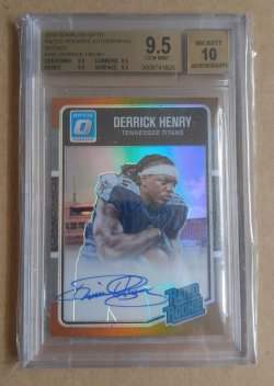 2016 Panini Donruss Optic Derrick Henry Rated Rookie Auto Bronze