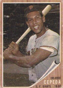 1962 Topps  Orlando Cepeda