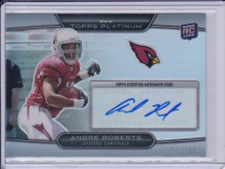 Andre Roberts 2010 Topps Platinum Rookie Autographs /900