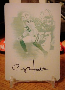 2016 Panini Impeccable Indelible Ink Cyan Plate Clay Matthews
