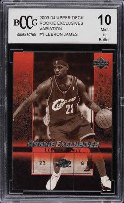 2003 Upper Deck Rookie Exclusives LeBron James