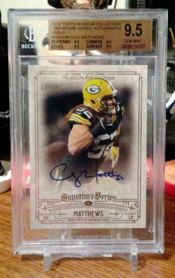 2014 Topps Museum Collection Signature Series Gold Clay Matthews