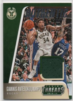 2018-19 Panini Threads Antetokounmpo, Giannis - Authentic Threads