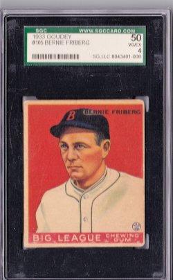 1933  Goudey Bernie Friberg