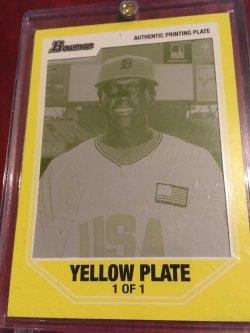 2007 Bowman 1/1 Yellow Printing Plate 1/1 CAMERON MAYBIN #BDPP107 Detroit Tiger RC OF