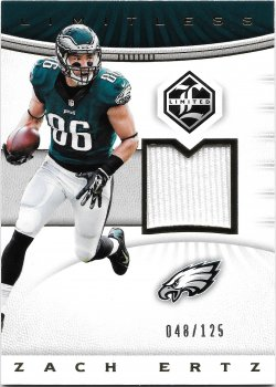 2017 Panini Limited Limitless Materials Zach Ertz