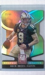 2014 Panini Elite Gold Die Cut  Drew Brees