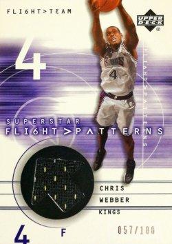 2001-02 Upper Deck Flight Team Superstar Flight Patterns Chris Webber #ed 57/100