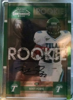 2008 Playoff Contenders Matt Forte college rookie tickets auto