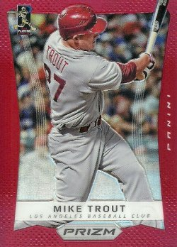2012 Panini Prizm Red Prizms Mike Trout