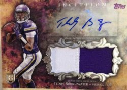 2014 Topps Inception Teddy Bridgewater Jumbo Patch Auto
