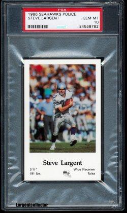 1986  Seahawks Police Steve Largent