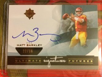 2013 Upper Deck Ultimate Collection Matt Barkley Ultimate Futures Signatures
