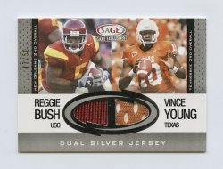 2006 SAGE Game Exclusive Jersey Combos Silver #CG2 Reggie Bush College/Vince Young College/50