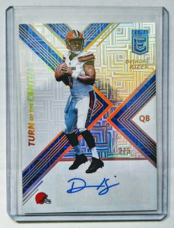 2017 Panini Donruss Elite Deshone Kizer Turn Of The Century Rookie Auto Blue