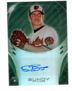 2013 Bowman Sterling Rookie Auto Green Refractor Dylan Bundy