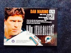 1999 Skybox Fleer Dominion Dan Marino #174 Back
