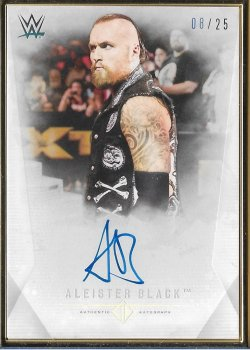 2019 Topps WWE Transcendent Collection Aleister Black #ed 8/25
