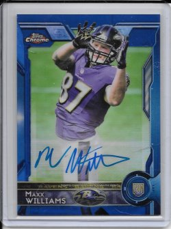 2015 Topps Chrome Blue Refractor Rookie Autograph - Maxx Williams