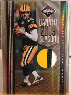 2010 Panini Limited  Aaron Rodgers Banner Season Jersey Prime