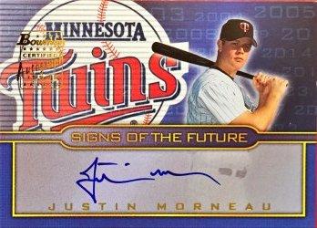 2002 Bowman Draft Signs of the Future Justin Morneau