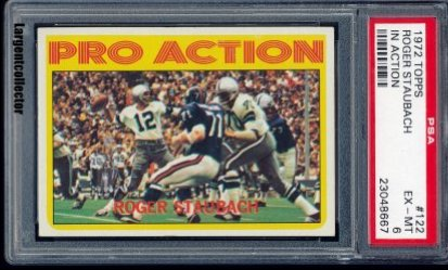 1972 Topps Pro Action Roger Staubach