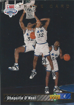 1992-93 Upper Deck Trade Card Shaquille ONeal