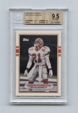 1989 Topps Traded #30T Deion Sanders RC BGS 9.5 (POP 228)
