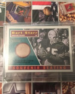 2001 Topps Heritage Souvenir Seating Bart Starr