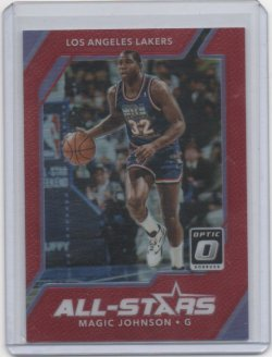 2018 Panini optic Magic Johnson All stars red