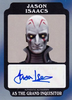 2017  Star Wars Rogue One Mission Briefing Autographs Black Jason Isaacs