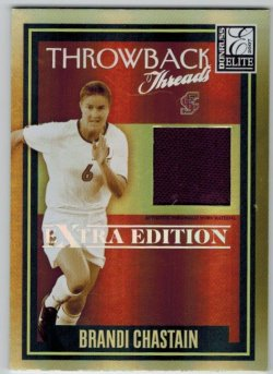 2008 Donruss Elite Extra Edition Throwback Threads Brandi Chastain