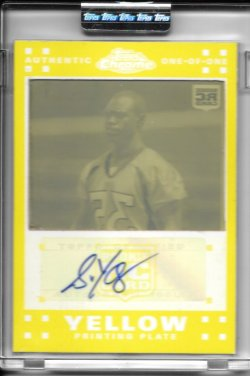 2007 Topps Chrome Yellow Printing Plate Autograph - Selvin Young