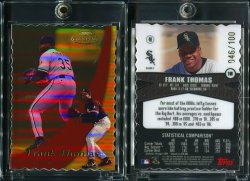 2000  Topps Gold Label Class 2 Gold Die Cut Frank Thomas