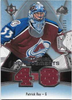 2015-16 Upper Deck Ultimate Collection Material Achievments Patrick Roy