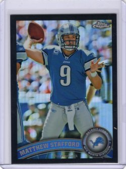 2011 Topps Chrome-Black Refractor Insert Matthew Stafford