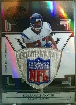 2006 Leaf Certified Domanick Davis mirror black NFL shield 1/1