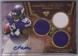 2013 Topps Triple Threads Cordarrelle Patterson Auto Patch