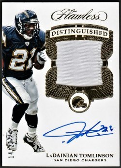 2017   LaDainian Tomlinson Flawless Distinguished GOLD Parallel Patch Auto /25