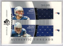 2003 Upper Deck SP Authentic Tom Brady / Bethel Johnson