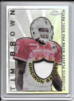 2002 Topps Chrome Gridiron Badges Jersey - Tim Brown