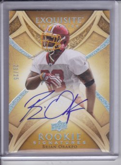 Brian Orakpo 2009 UD Exquisite Collection Rookie Silver Holofoil AUTO /25