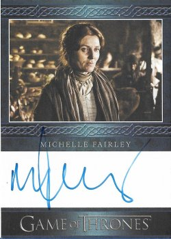 2020  Rittenhouse Game of Thrones Season 8 Archive Box Exclusives Autographs Blue Michelle Fairley as Catelyn Stark