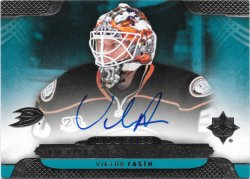 2013-14 Upper Deck Ultimate Collection Rookie Signatures Viktor Fasth